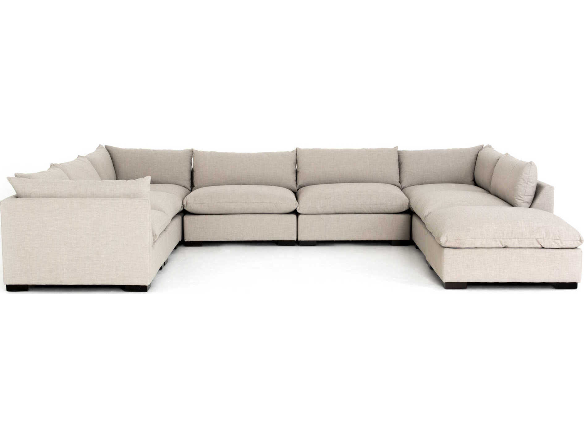 four hands atelier espresso bennett moon sectional sofa