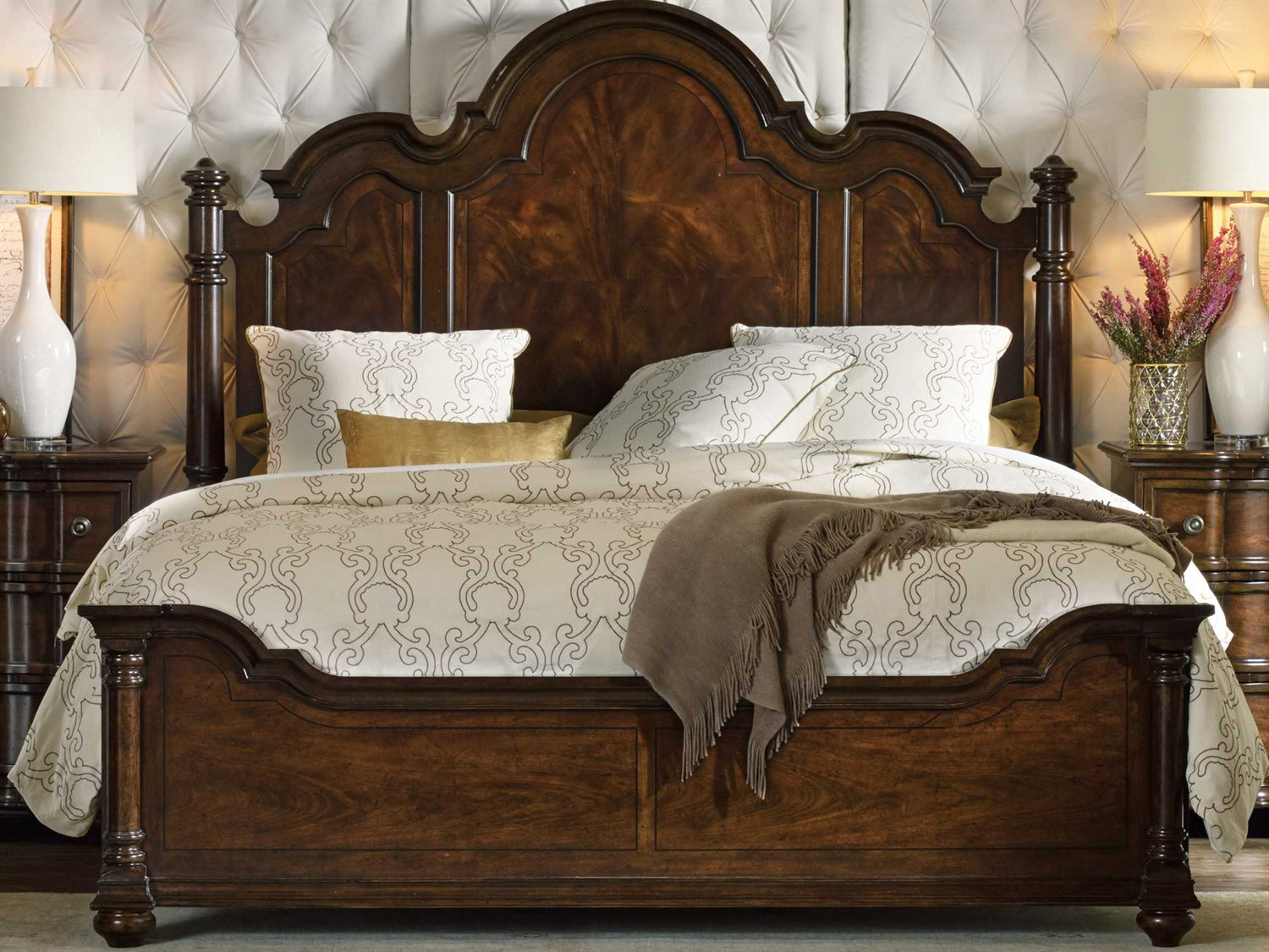 hooker furniture leesburg rich traditional mahogany king size poster bed