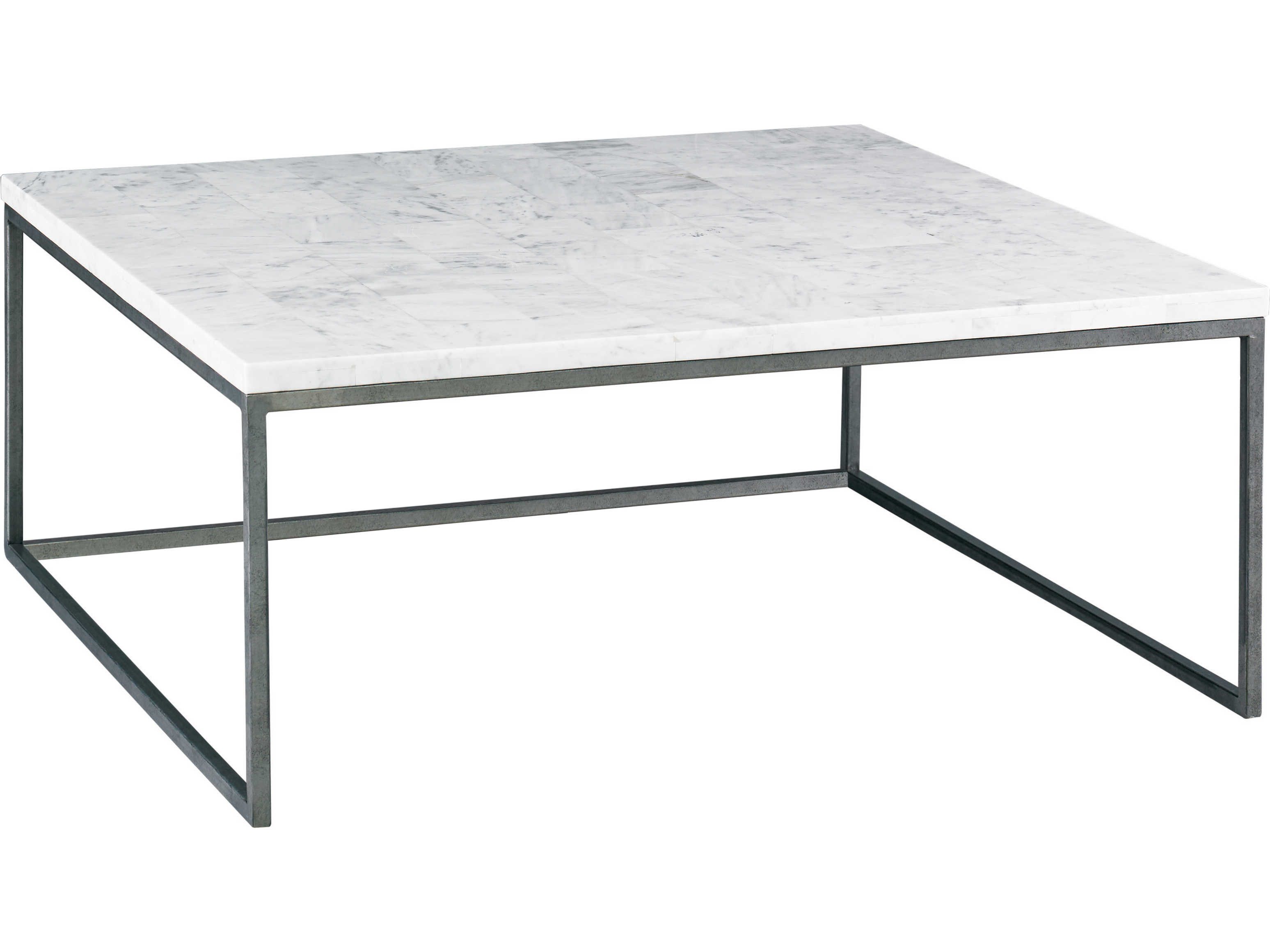 lillian august modern living white stone grey 42 wide square coffee table