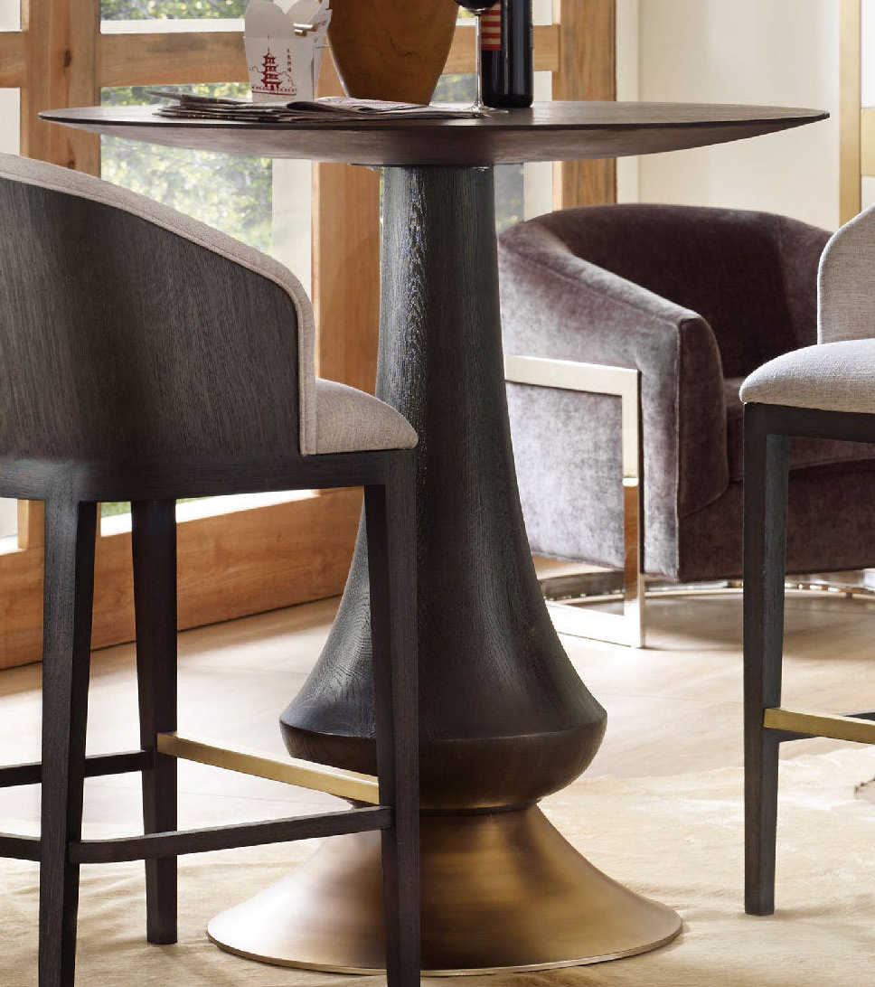 Luxe Designs 40 Wide Round Bar Height Dining Table Lxd17017444998dkw