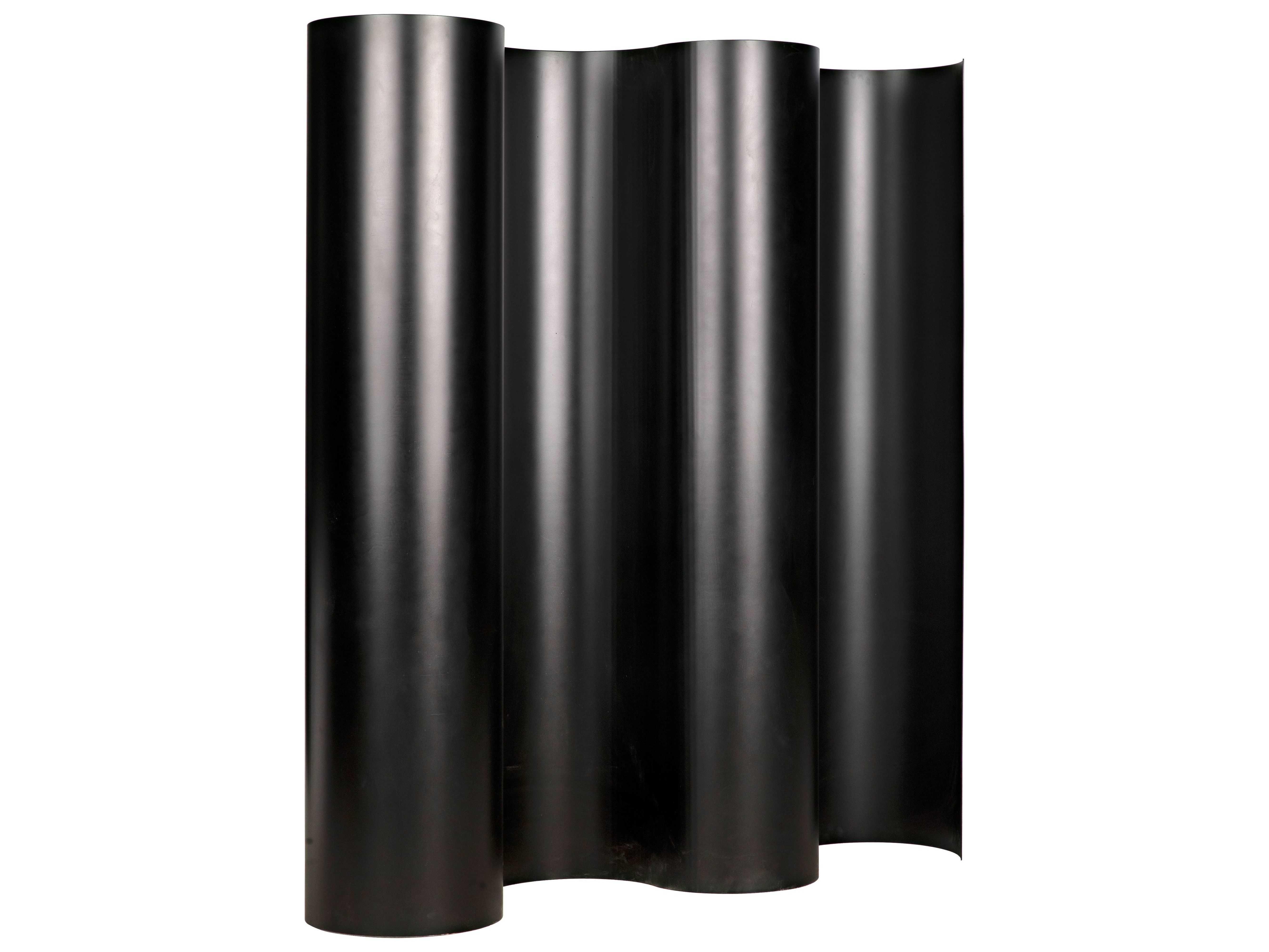Noir Furniture Black Metal One Panel Room Divider Noigscr108mtb