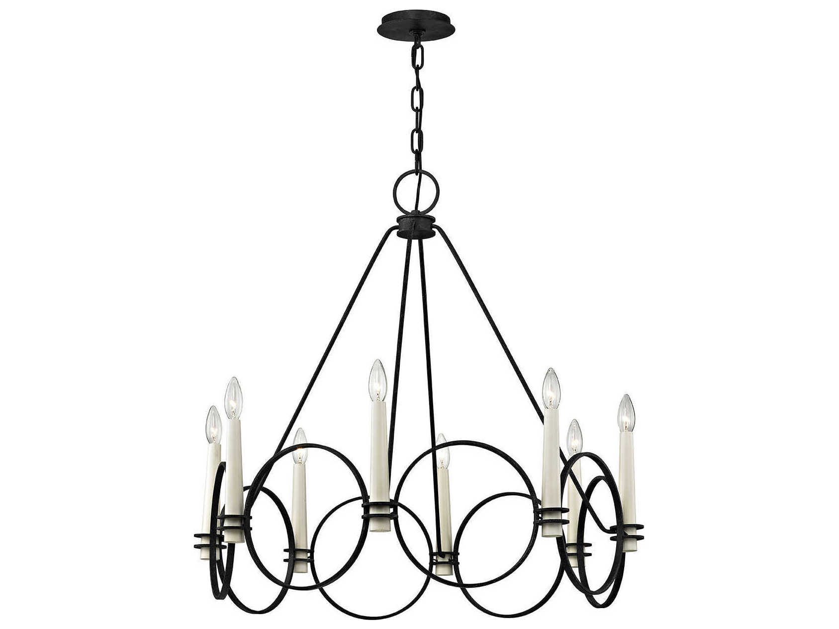 Troy Lighting Juliette Country Iron Eight Light 32 Wide