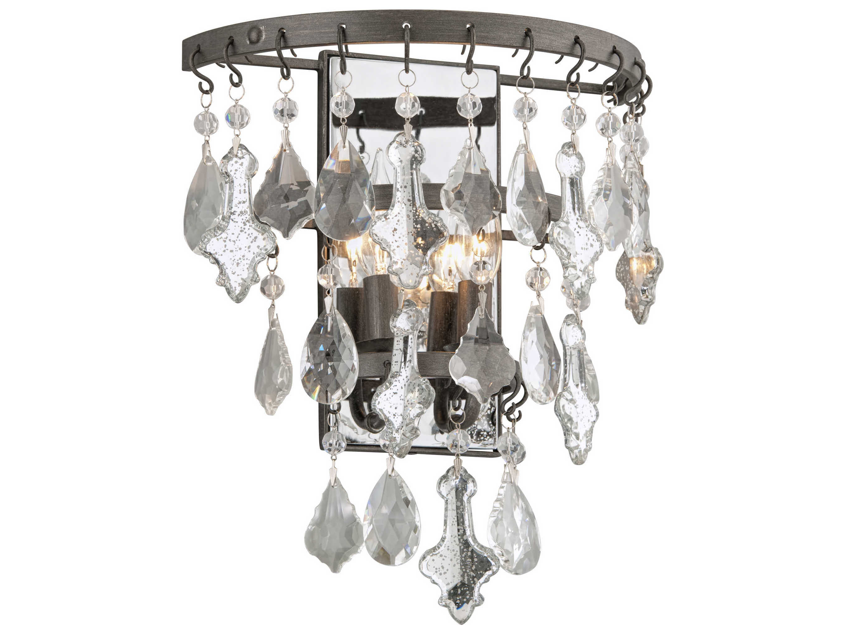 Troy Lighting Meritage Graphite Two Light 12 Wide Wall