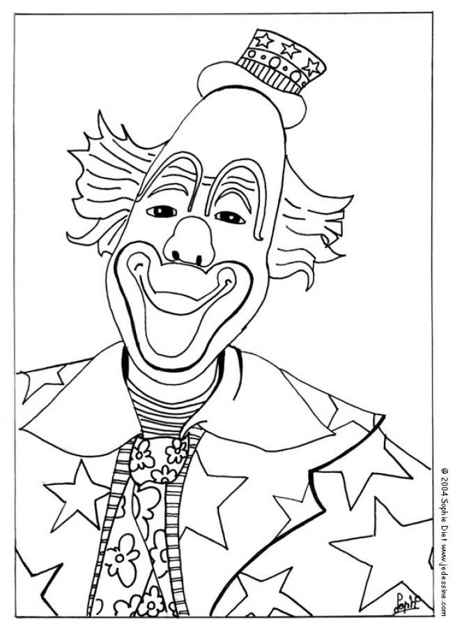 Lchelnder Clown Zum Ausmalen Dehellokidscom