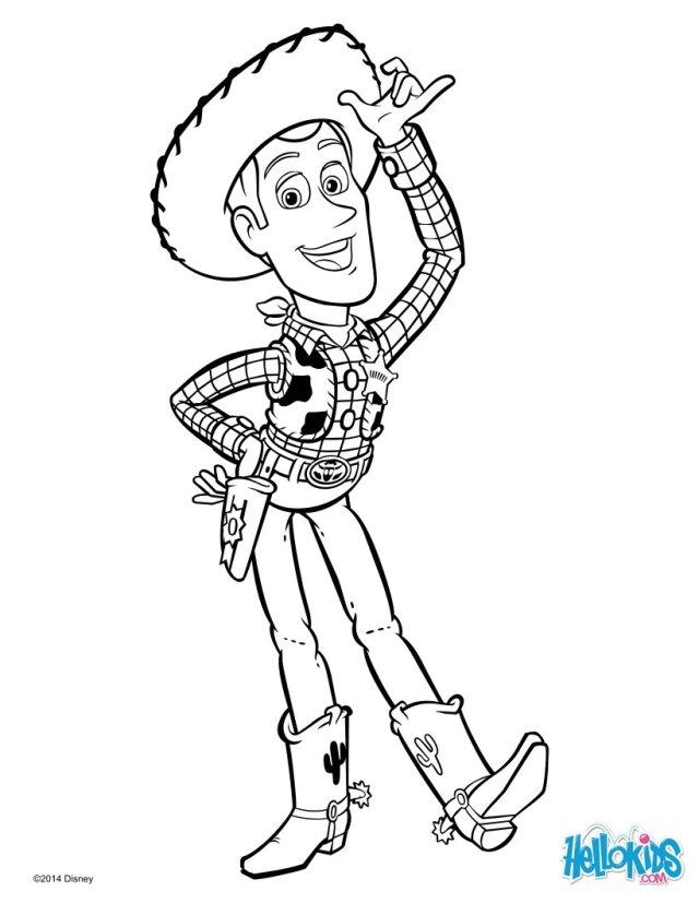 Cowboy woody von toy story zum ausmalen - de.hellokids.com