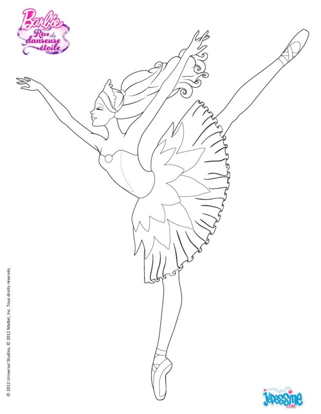 Ballerina coloring pages, Dance coloring pages, Barbie coloring