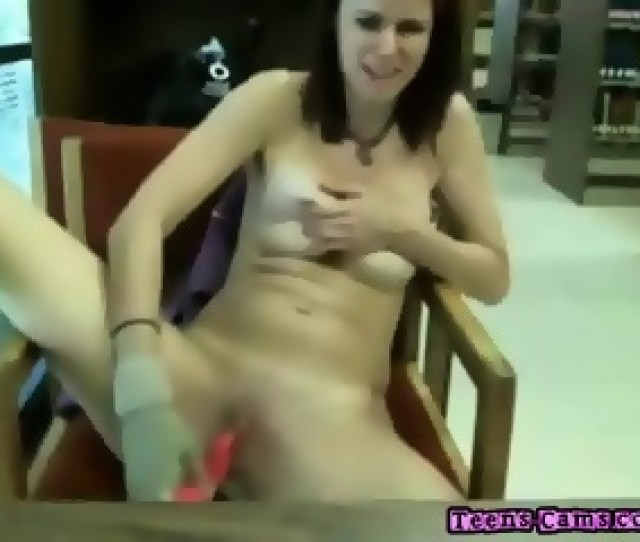 Hot Teen Girl Totally Nude At Public Library Scene 4