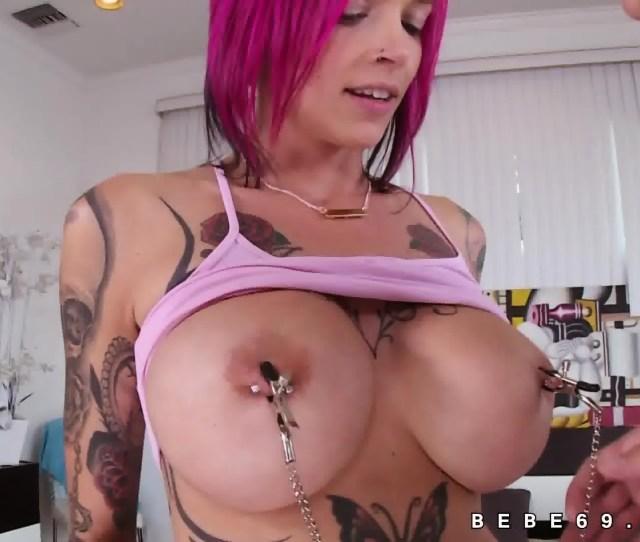 Anna Bell Peaks Huge Tits Babe Sucking Scene