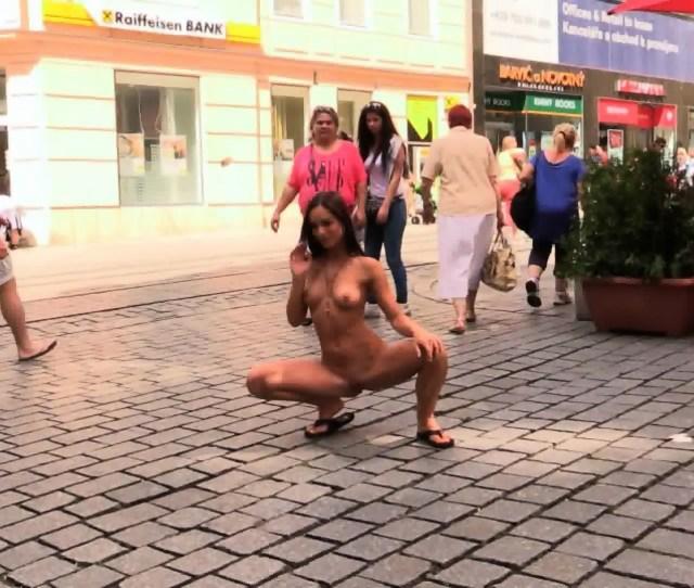 Naked Girl In Public Scene 3