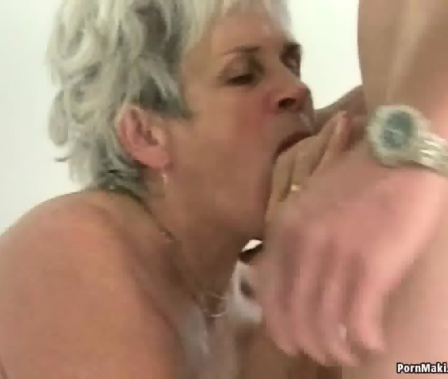Hairy Granny Pussy Filled With Younger Dick Scene