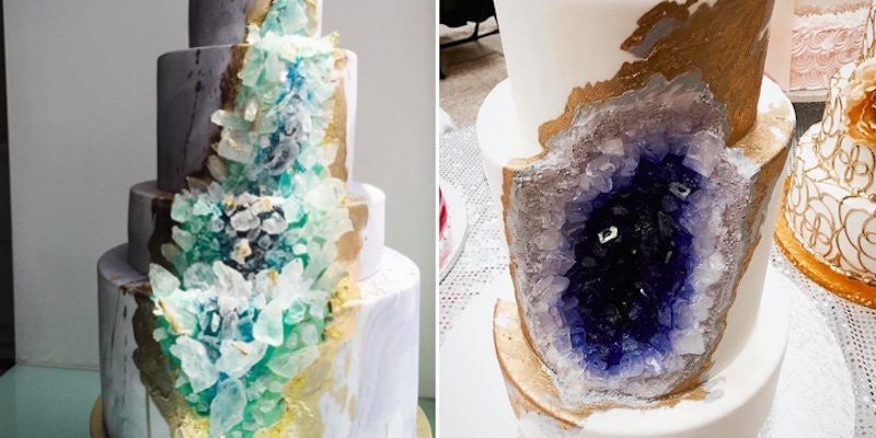 Geode Wedding Cakes Is A New Trend That Literally Rocks