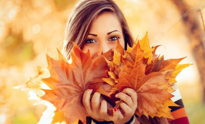 Image result for fall woman leaves