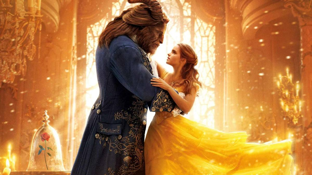 Poster shot of Beauty and the beast featuring Emma Watson and The Beast