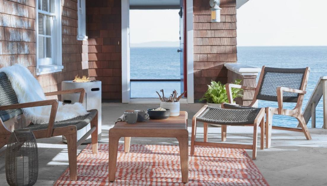 this outdoor furniture set will have your patio looking as chic as your living room