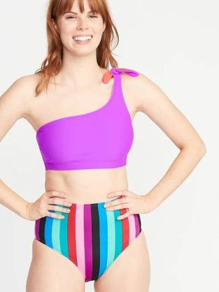 One-Shoulder Swim Top
