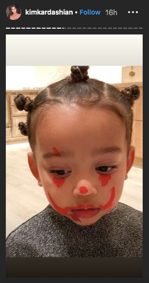 North West's IT Clown makeup was actually pretty good.