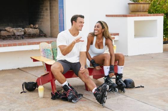 Ben Smith and Tayshia Adams on 'The Bachelorette'