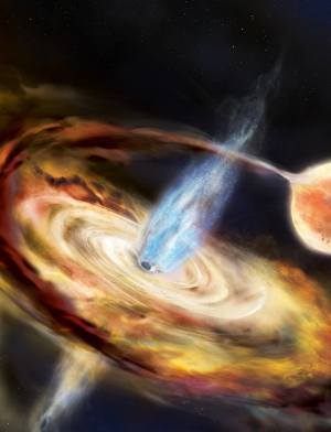 Scientists are capturing an amazing black hole