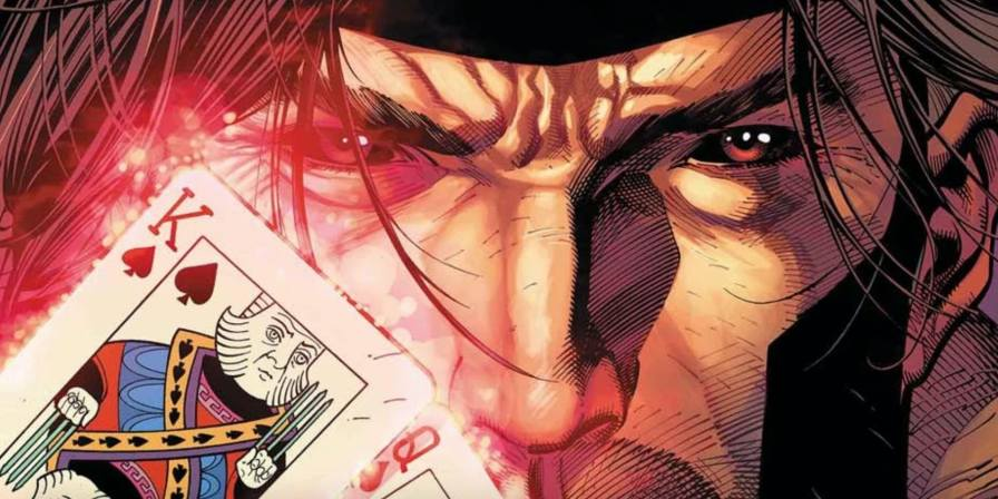 Gambit and his beloved playing cards in X-Men: Gold Vol.  2 # 4