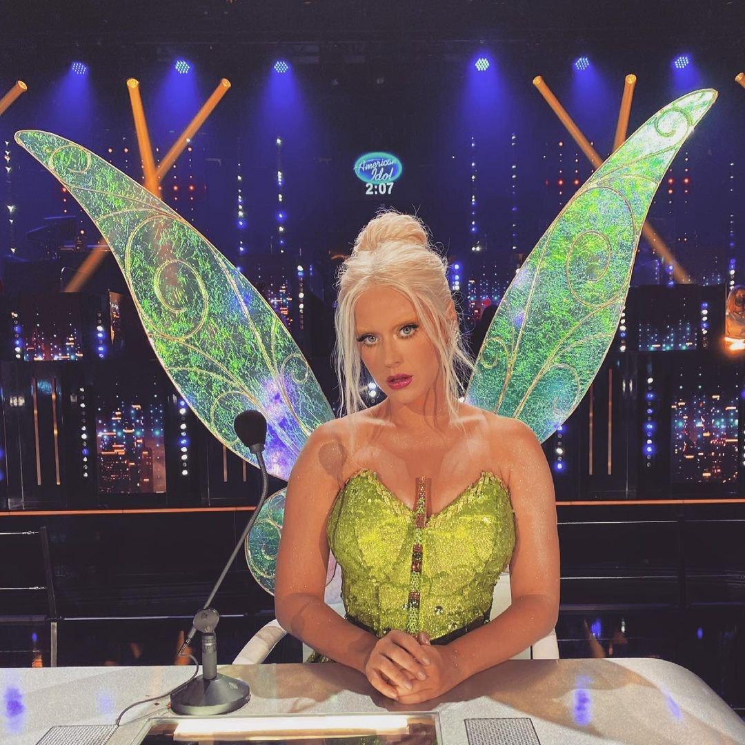 Katy Perry wearing wings