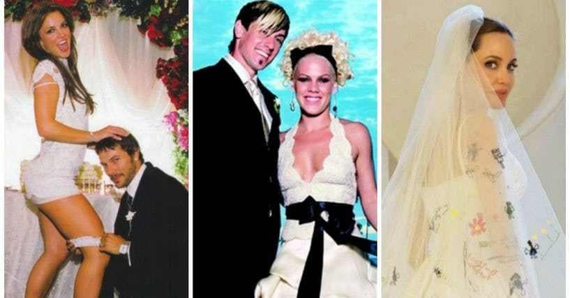 Crazy Celebrity Wedding Gowns