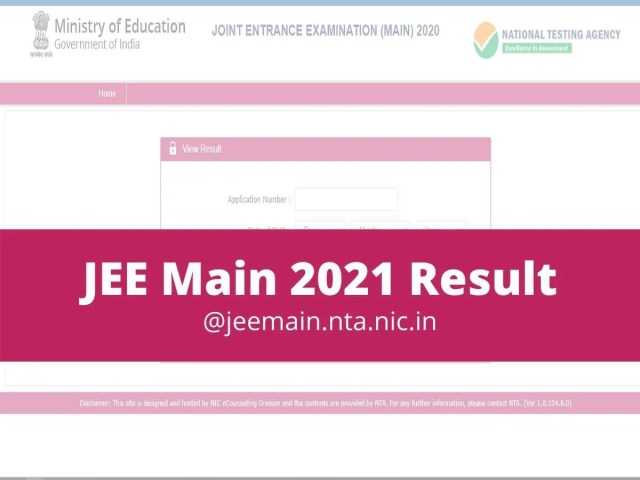 JEE Main Result 2021 Date and latest updates