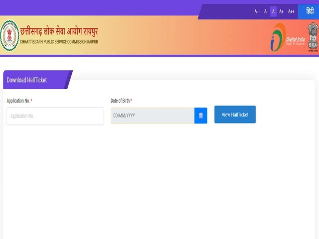CGPSC Mains Admit Card 2019 released for State Service exam