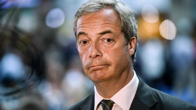 """Christoph Waltz attackiert Farage als """"Oberratte"""" (Bild: APA/AFP/PHILIPPE HUGUEN)"""