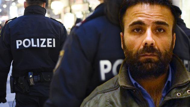 Brutaler Serien-Sextäter ging Polizei ins Netz (Bild: BPD Wien, APA/HELMUT FOHRINGER)