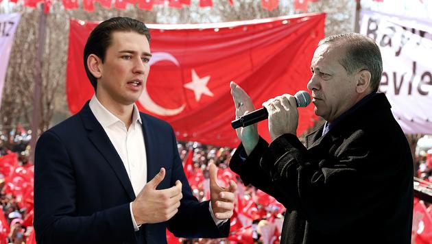 """Kurz: """"Wahlkampfauftritt Erdogans unerwünscht"""" (Bild: AP)"""
