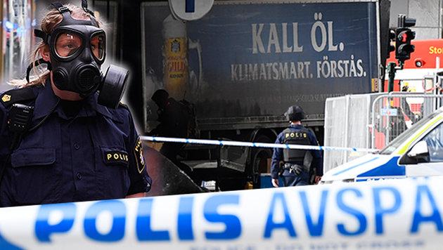 Lkw als Waffe: Diesmal traf der Terror Stockholm! (Bild: AFP)