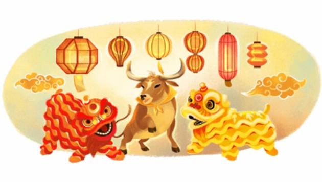 Google feiert Mond-Neujahr mit speziellem Logo