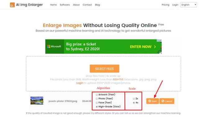increase image size and resolution