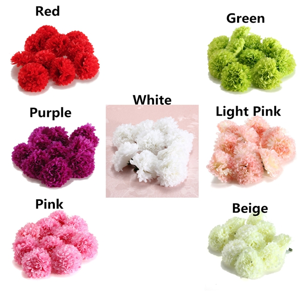 10Pcs Artificial Daisy Flower Silk Spherical Heads Bulk Home Party Wedding Decor
