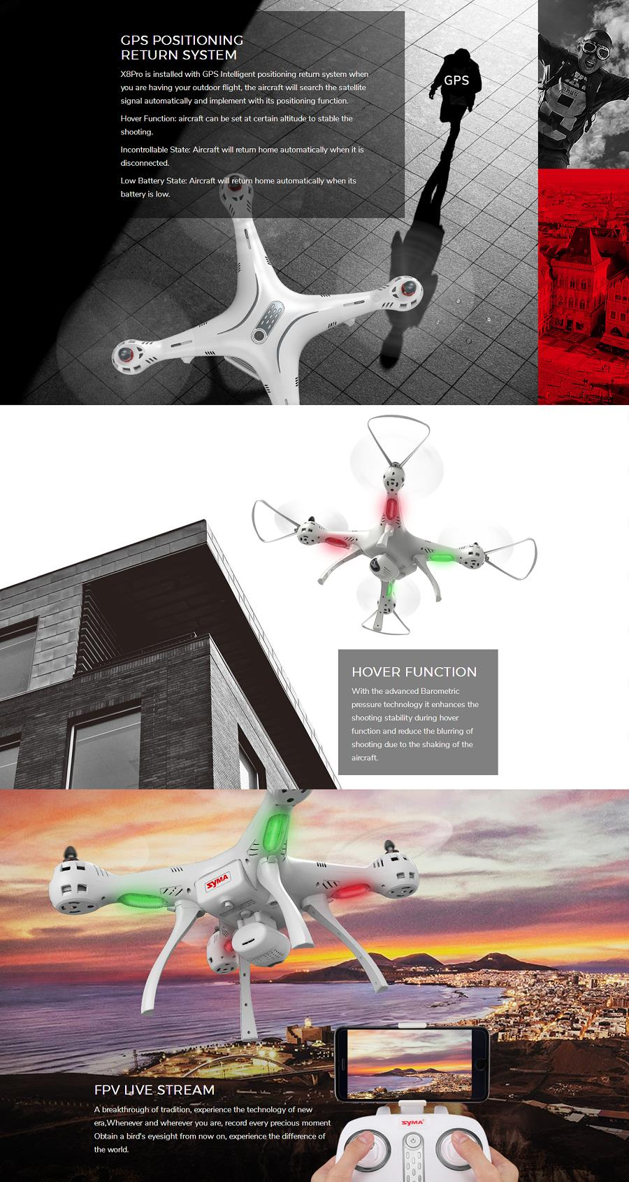 Want To Fly The Syma X8 Pro Drone Get It Today For Just R3499 In Wifi Fpv Drore Gps Auto Return Brand Namesyma Modelx8pro Frequency24g Channel4ch Gyro6 Axis Colorwhite Camera Photo Video 03mp Sd Card 1mp