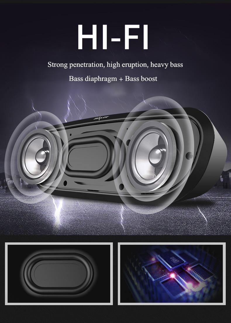 Zealot S9 2400mAh Smart Portable Bass Hands-free TF Card AUX Flash Disk Wireless Bluetooth Speaker