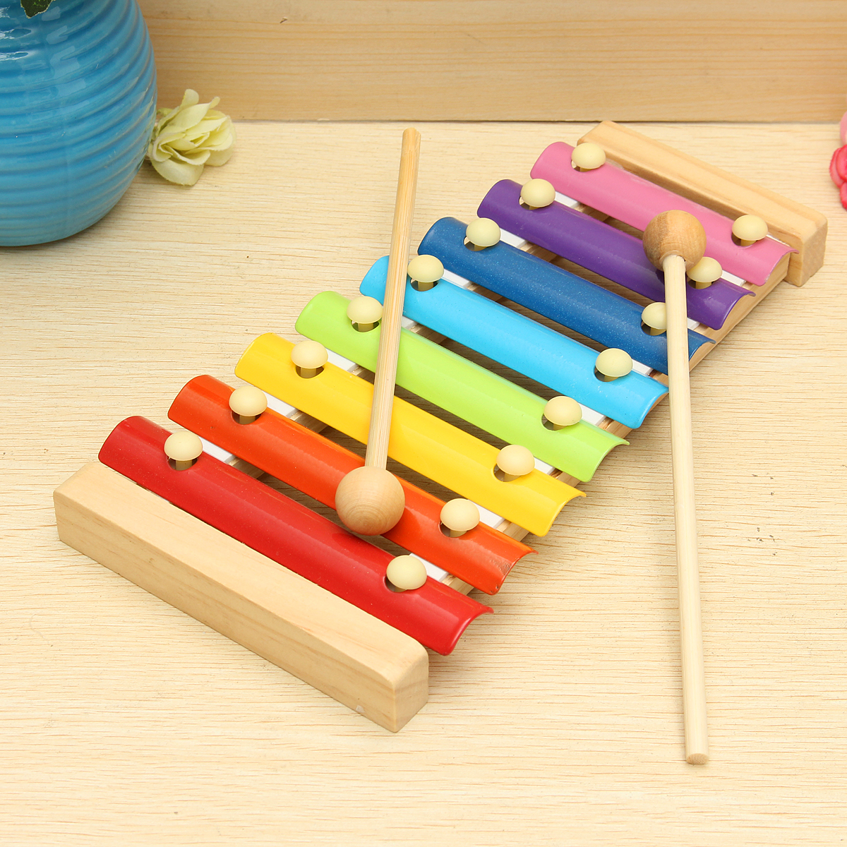 Kids Toys 8 Notes Musical Xylophone Piano Wooden
