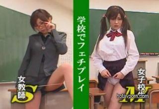 【浜崎りお】JKを虐める悦びと、女教師に苛められる悦び。官能的な愉しみが満載な最高の学校生活♪