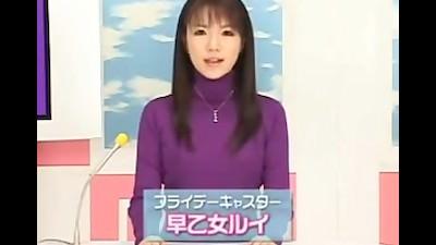 【早乙女ルイ】ザーメンで汚い顔のまま笑顔で原稿を読む姿に大興奮