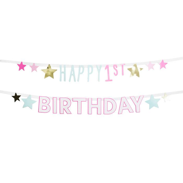 Happy First Birthday Baby Girl Banner Hobby Lobby 1703974