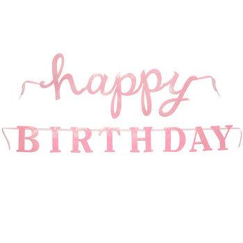 Pink Glitter Happy Birthday Banner Hobby Lobby 1409358