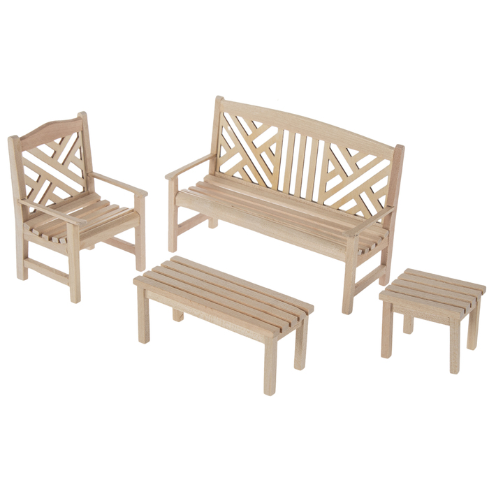 miniature unfinished garden furniture hobby lobby 1616887