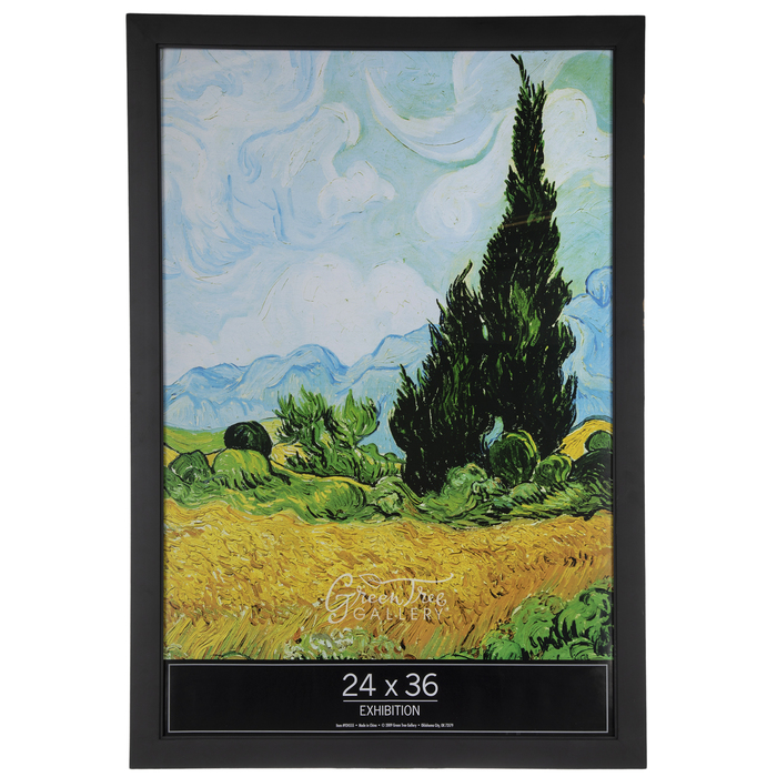black matte smooth wood wall frame 24 x 36