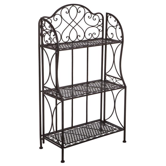 antique bronze iron three tiered baker s rack hobby lobby 518423