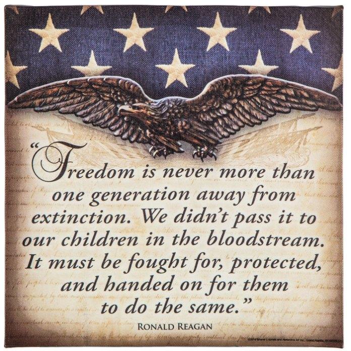 Ronald Reagan Freedom Quote Canvas Wall Decor   Hobby Lobby   1157585