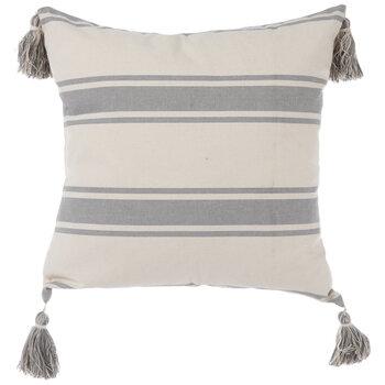 gray striped tassel pillow cover hobby lobby 1997766