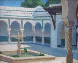 mathilde arbey le patio de la villa abd el tif a alger