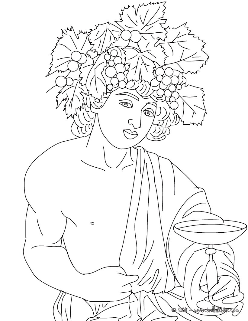 ares desenho de dionisio deus grego
