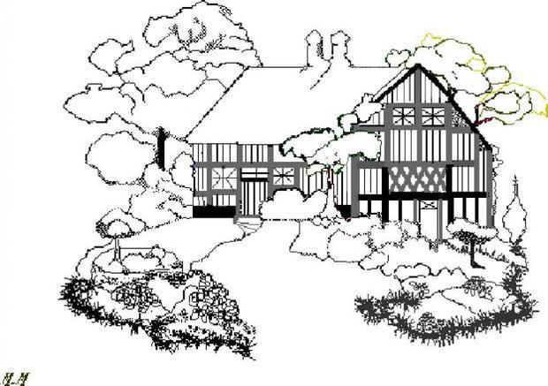 Desenhos Para Colorir De Casa De Campo Pthellokidscom