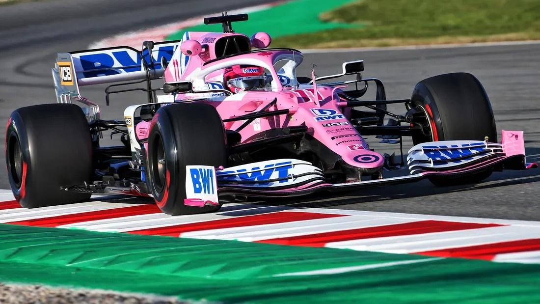 f1 saison 2020 mercedes kopie in pink
